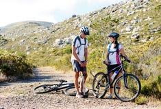 Problèmes de bicyclette photographie stock libre de droits