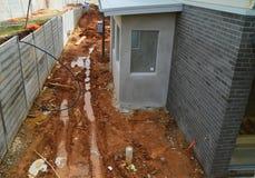 Problèmes de drainage Photos libres de droits