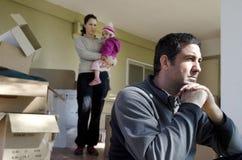 Problèmes de famille - sans-abri Photo stock