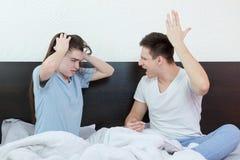 Problèmes de relations et de mariage Images stock