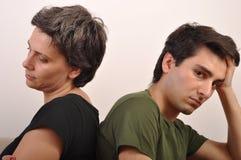 Problèmes de soeur et de frère Image libre de droits
