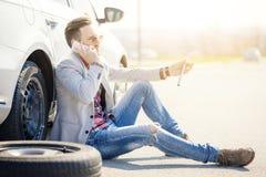 Problèmes de voiture Photographie stock libre de droits