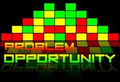 Problèmes et possibilités Photos stock