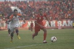 PROBLÈMES INDONÉSIENS DU FOOTBALL Photos stock