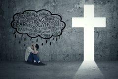 Problèmes spirituels Image libre de droits