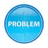 Probleem bloemen blauwe ronde knoop vector illustratie