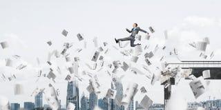 Probleem en moeilijkheden die concept overwinnen Royalty-vrije Stock Afbeelding