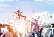 Probleem en moeilijkheden die concept overwinnen royalty-vrije stock afbeeldingen