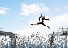 Probleem en moeilijkheden die concept overwinnen Royalty-vrije Stock Foto