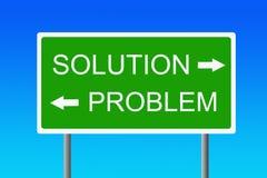 Probleem en oplossing royalty-vrije illustratie