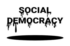 Probleem en probleem van Sociale democratie stock illustratie