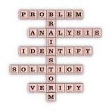 Probleem het Oplossen Stappenkruiswoordraadsel Stock Foto's