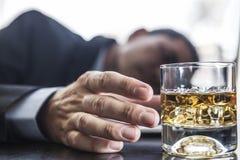 Probleem met Alcohol Stock Foto