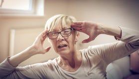 Probleem met migraine royalty-vrije stock afbeeldingen
