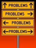Problem överallt vektor illustrationer