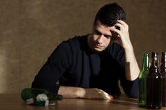 Problem of alcoholism Stock Images