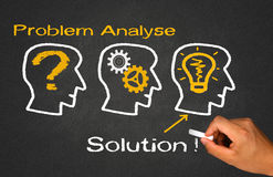 Problem analyse solution Royalty Free Stock Photography