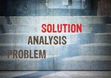 Problem, analysis solution Stock Photos