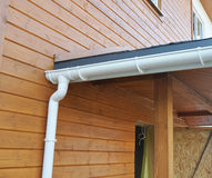 Problem Areas for Rain Gutter Waterproofing. Guttering, Gutters,. Plastic Guttering, Guttering & Drainage. Guttering Downpipe Fittings Stock Images