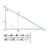 Problem av att finna sidorna av triangelabc:et Arkivfoto