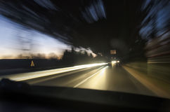 Problem av billyktorna för hög stråle Arkivfoton