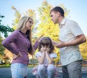 Problem av en familj Arkivbild