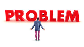 Problem before a boy Royalty Free Stock Photo
