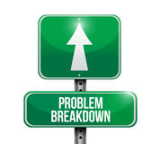 Problem breakdown road sign illustration design Royalty Free Stock Photography