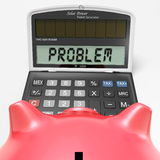 Problem Calculator Shows Solving Questions With Solutions Royalty Free Stock Images