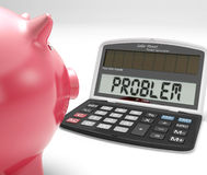 Problem Calculator Shows Strategy Solving Positive Answer Royalty Free Stock Images