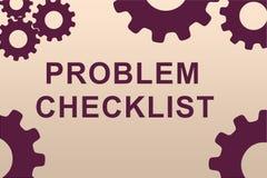 Problem-Checklistenkonzept lizenzfreie abbildung