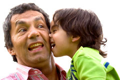 Problem child and his dad Stock Photography