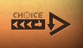Problem of choice Royalty Free Stock Image