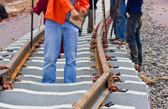 Problem construction of the railway. Royalty Free Stock Photography