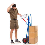 Problem with a delivery Stock Photos