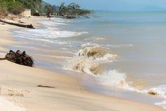 Problem der Küstenerosion Lizenzfreies Stockfoto