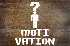 Problem der menschlichen Motivation Stockbild