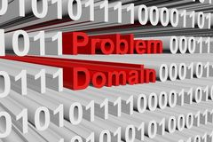 Problem domain. In the form of binary code, 3D illustration Royalty Free Stock Photography