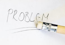 Problem eraser Stock Image