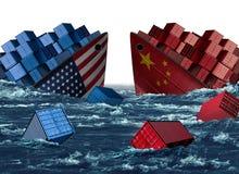 Problem för Kina Förenta staternahandel royaltyfria bilder
