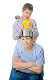 Problem of fathers and childrens, family relations Royalty Free Stock Photography
