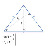 The problem of finding the height of an isosceles triangle by the Pythagorean theorem Stock Photos