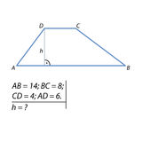 The problem of finding the height of the trapezoid-01 Royalty Free Stock Photography