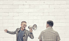 Problem of generation conflict Royalty Free Stock Image