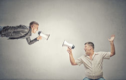 Problem of generation conflict royalty free stock photos