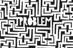 Problem hidden in endless complex maze Royalty Free Stock Photos