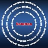 Problem i rozwiązanie ilustracja wektor