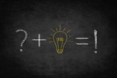 Problem , idea , solution -  illustration on chalkboard Stock Photos