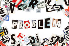Problem inscription Stock Photos