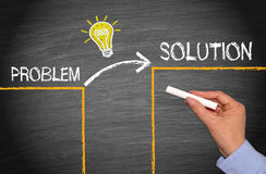 Problem leads to solution Stock Images